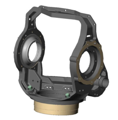 Figure 2: Machined Gimbal
