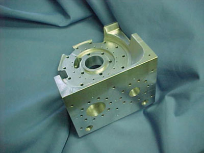 Figure 3: Center Plate, TPG embedded in aluminum.