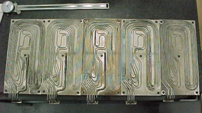 Figure 3: Fabricated Heater Plates in Process